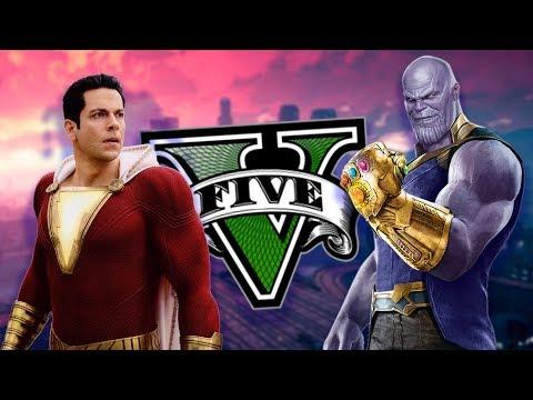 Download Gta V Mods Shazam Vs Thanos Superheroes En Los
