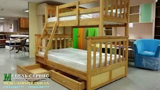 """Двухъярусная кровать Бай-Бай, 800x1900 мм., ольха от компании Мебельное ателье """"Константа"""" - видео 1"""