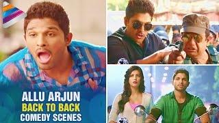 Race Gurram Movie Comedy Scenes - Allu Arjun creates funny story on Shaam - Shruti Hassan