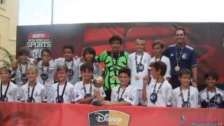 preview picture of video 'Disney Memorial Day Soccer 2014 Team Boca White The Champions'