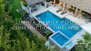 Limina Family Pool Construction Time Lapse By Mike Farley