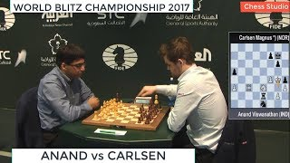 ANAND vs CARLSEN || WORLD BLITZ CHAMPIONSHIP 2017