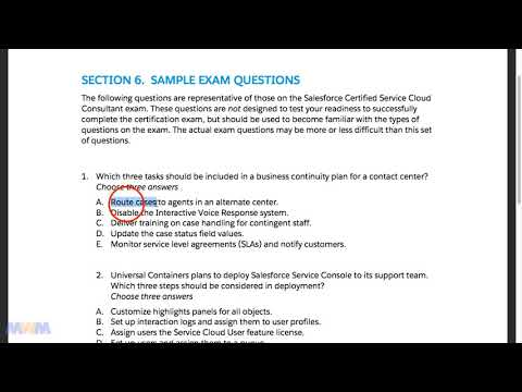 Salesforce Service Cloud Consultant Test Question #1 - YouTube