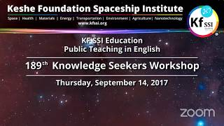 189th Knowledge Seekers Workshop Sept 14th, 2017