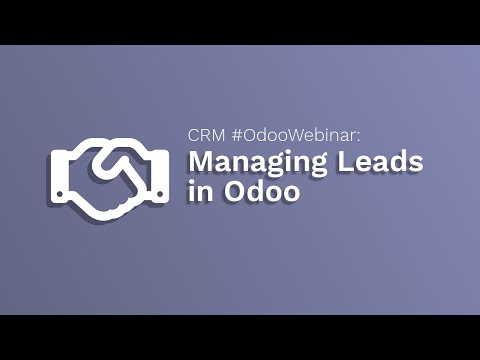 Odoo CRM Tutorial: Managing Leads in Odoo