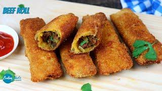 ১০ মিনিটে ঝটপট ঝুরামাংস দিয়ে রোল   Beef Bread Roll   Bread Roll   Bangladeshi Roll Recipe