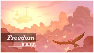 Freedom | REST project | Relax, Piano, Meditation, Music, ASMR, Peace, Angel, Illustration