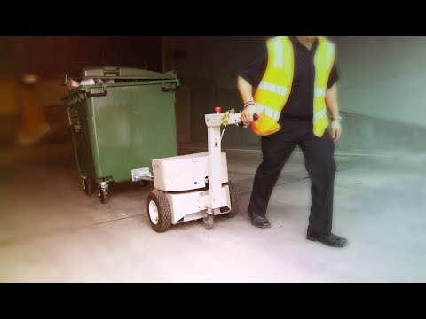 Electrodrive waste bin tug in action