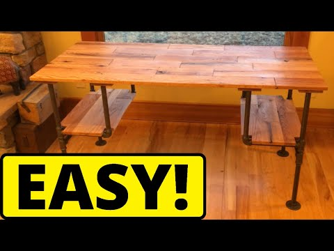 DIY Black Iron Pipe Desk