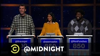 Ron Funches, Matt Braunger, Aparna Nancherla - OkCreepy  - @midnight w/ Chris Hardwick