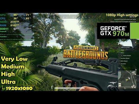 GTX 970M | PUBG - 1080p All Settings!
