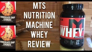 Better Than Ghost Chips Ahoy? | MTS Nutrition Machine Whey - Chocolate Chip Cookies (Honest Reviews)