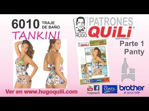 6010 TANKINI con panty bóxer cachetero
