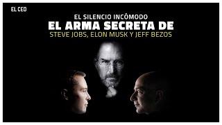 El silencio incómodo, el arma secreta de Steve Jobs, Elon Musk y Jeff Bezos