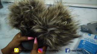 CHEAP DIY  EXTRA Fluffy Faux FUR Slides Using Old Slides | TheCrissyMack