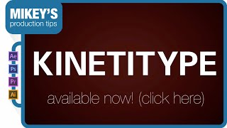 Kinetitype Animated Typeface After Effects Template Promo