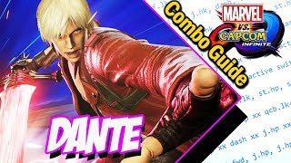 Dante Combo Guide Basic to Advanced - Marvel vs Capcom Infinite
