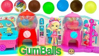 Shopkins Sweet Spot Gumball Machine Playset with Exclusive Shoppies Doll + Chocolate Balls