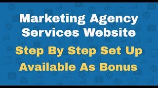Fully Loaded Marketing Agency Website In 3 Clicks Step BY Step