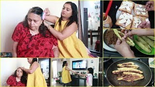 Saas ki Care se Leke Evening Snacks Aur Special Dinner Preparation Vlog   Indian Mom On Duty