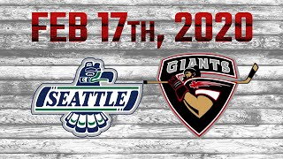 February 17 Highlights Giants vs Thunderbirds