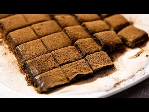 CHOCOLATE FUDGE RECIPE – CARAMEL FLAVOR NO BAKE EGGLESS DESSERT – CookingShooking