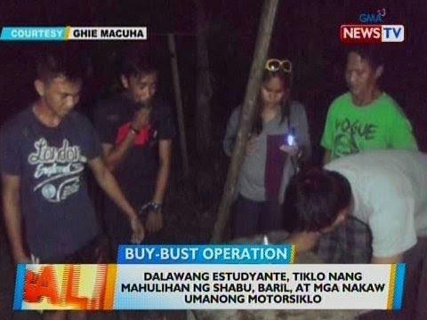 [GMA]  BT: 2 estudyante, tiklo nang mahulihan ng shabu, baril, at mga nakaw umanong motorsiklo