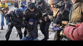 В Москве задержали 11 участников акции против агрессии РФ в Украине