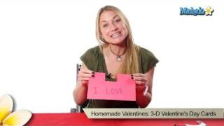 Homemade Valentines: 3-D Valentines Day Cards