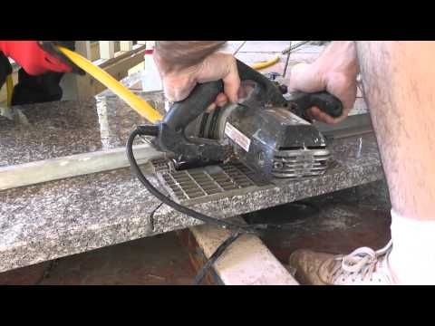 How To Install Granite Countertops On A Budget - Part 3 - Cut & Fit With A Circular Saw