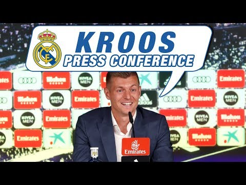 Toni Kroos, new REAL MADRID contract press conference