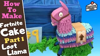 LOOT LLAMA Cake Decorating Tutorial -Part 1 How to Make FORTNITE Cake Decorations by Caketastic Cake