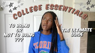 WHAT TO BRING (and NOT Bring) TO COLLEGE 2020 | DORM PACKING LIST / COLLEGE ESSENTIALS @ UF