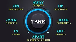 Фразовый глагол Take  с примерами. Фразовый глагол Take в Английском языке .