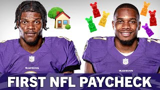What Did You Spend Your First NFL Paycheck On? | Baltimore Ravens