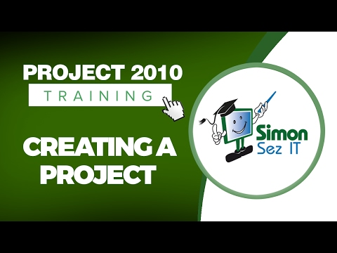 Microsoft Project 2010 Video Training Tutorial - Creating a Project ...