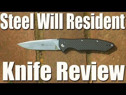 Steel Will F15 Resident Pocket Knife Review.  Carbon Fiber, D2, Titanium for $85 ?!