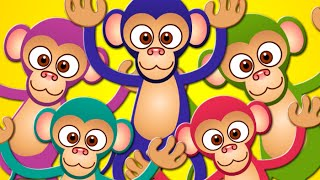 Five Little Monkeys | Nursery Rhymes | Kids Songs