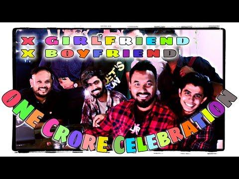 X Boyfriend & X Girlfriend 1 crore Views Celebration!! 🎉🎈 CINEMAWALA YouTube Party Live