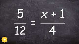 Solving a proportion with a binomial