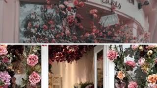 Цветочное оформление витрин!🌸🌿
