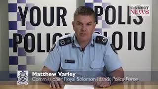 Royal Solomon Islands Police - Mr. Mathew Varley Address Solomon Islands April Riot(2019)