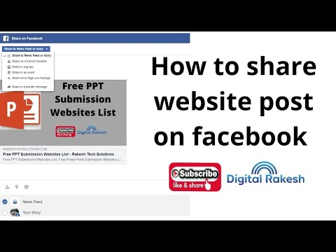 How to share website post on facebook business pages