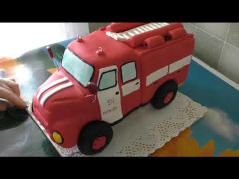 Идея торта в виде пожарной машины