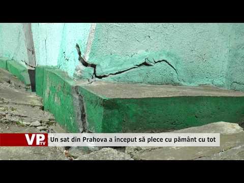 Un sat din Prahova a început să plece cu pământ cu tot