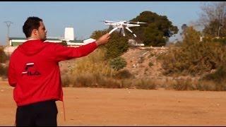 Walkera Qr x350 Primer vuelo en Español/Spanish con camara Gopro hero 3