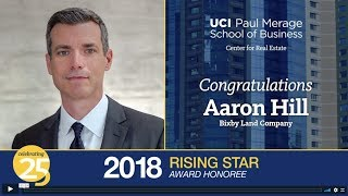 2018 Rising Star Aaron Hill | UCI Center for Real Estate