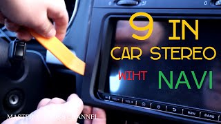 "Upgrade with 9"" car stereo for VW golf(MK5,6) , Android 10 with navigator, you Tube, Netflix"