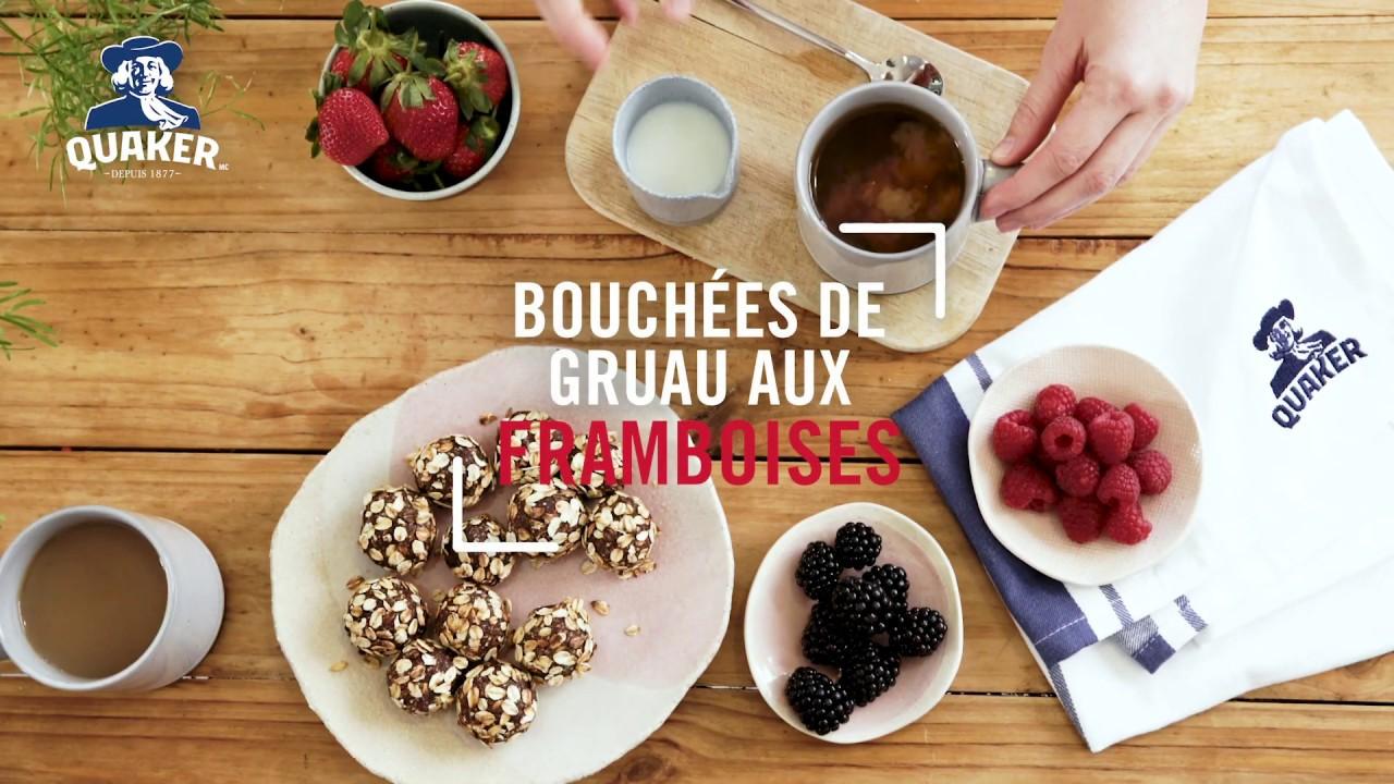 Gruau Quaker<sup>®</sup>  Bouchées de gruau aux framboises