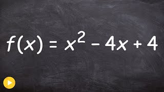 Find the x and y intercepts of a quadratic